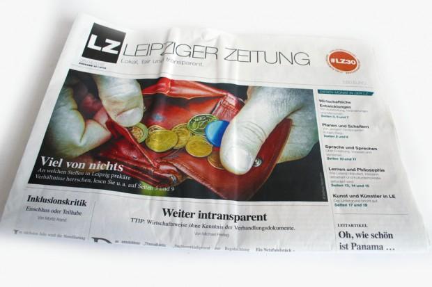 Die April-Ausgabe der LEIPZIGER ZEITUNG. Foto: Ralf Julke
