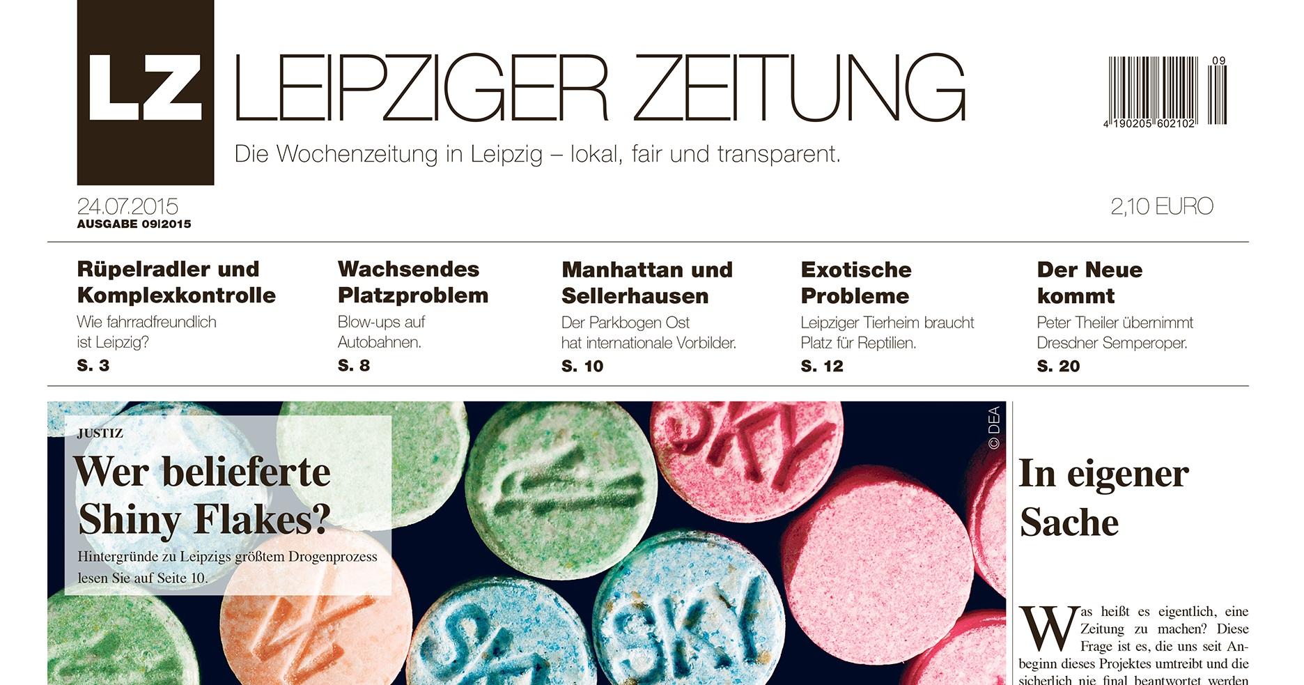 LEIPZIGER ZEITUNG Titelblatt Ausgabe 09