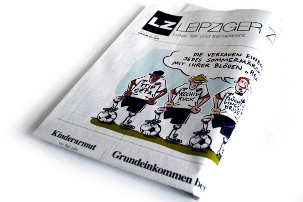 Die LEIPZIGER ZEITUNG Ausgabe Juni 2016. Foto: LZ