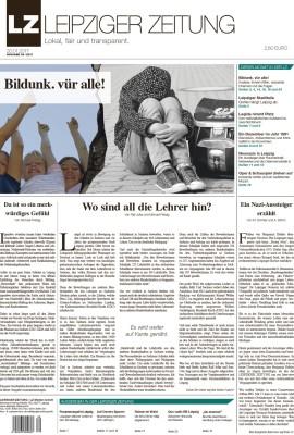 Die Titelseite der Leipziger Zeitung im Januar 2017. Bild LZ