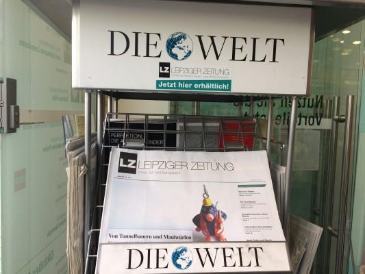 """Die LZ mal wieder in der """"Welt"""" bei Lehmanns im Zentrum. Foto: LZ"""