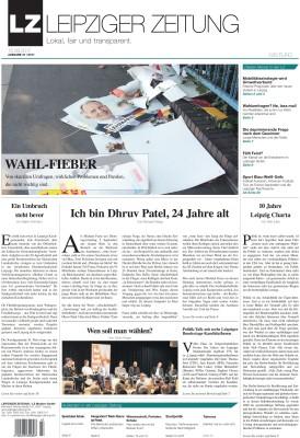 Das Titelblatt im September, Ausgabe 47 der LEIPZIGER ZEITUNG. Screen Titel