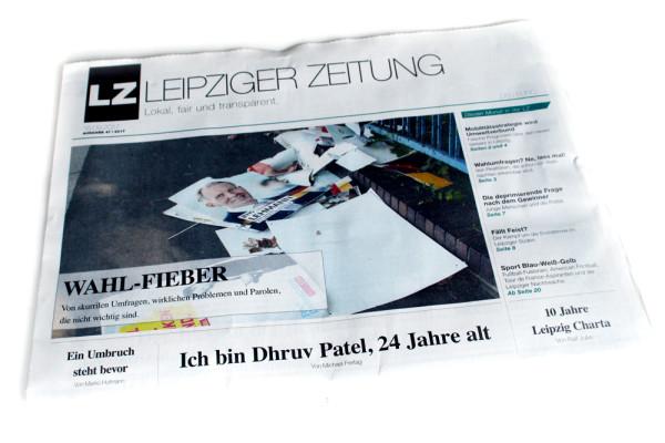 Die LEIPZIGER ZEITNG im September 2017. Foto: Ralf Julke