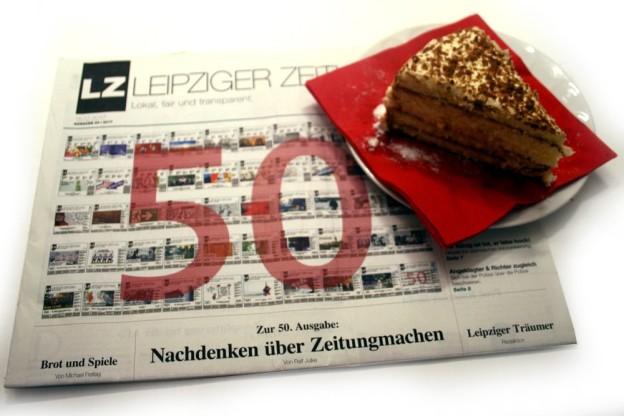 Die LZ Nr. 50, Jubiläums-Ausgabe Dezember 2017. Foto: Ralf Julke