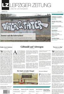Das Titelblatt der LEIPZIGER ZEITUNG Nr. 52
