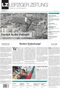 Die LEIPZIGER ZEITUNG Nr. 53 vom März 2018. Titelbild Pro Leipzig Verlag