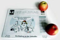Der Mann mit dem Deutschlandhütchen ... Foto: Ralf Julke