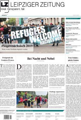 Die LEIPZIGER ZEITUNG Nr. 69, Ausgabe Juli 2019. Zum Lesen klicken. Foto: LZ