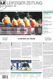 Das Titelblatt der LEIPZIGER ZEITUNG Nr. 81, Ausgabe Juli 2020. Foto: Screen LZ